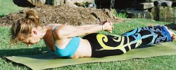 Yoga Intensive - Charmaine in Locust yoga pose - Yoga 101