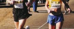 Charmaine running the Comrades marathon