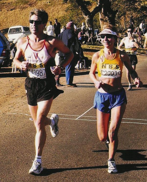 Charmaine running the Comrades marathon