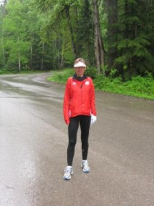Charmaine on running trail